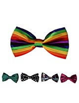 DBFF0030 Multi-colored Satin Fantastic Boys Pre-Tied Bow Ties Set - 5 Colors Available By Dan Smith