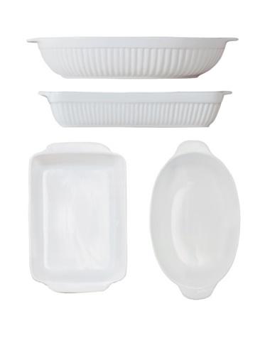 BergHOFF Set of 2 Bianco Baking Set (White)