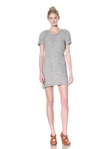 Whit Women's Short Sleeve Dogwood Dress (Black/White)