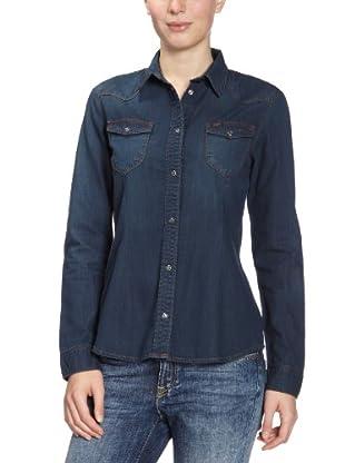 Lee Camisa Western (Azul medio)