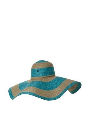 Florabella Women's Layla Toyo Stripe Hat (Emerald Multi)