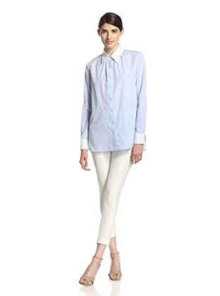 Thakoon Women's Long Sleeve Shirt (Blue)