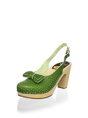 Swedish Hasbeens Women's Mimmi Slingback Sandal (New Green)