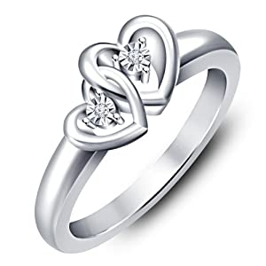 Vorra Fashion Sterling-Silver Ring  For Women (Silver)