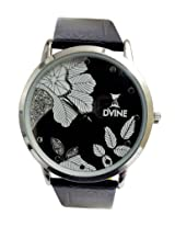 DVINE Black Dial Unisex Watch DD3033 BK01