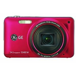 GE デジタルカメラ E1480W レッド E1480WRD