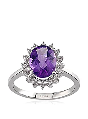 Divas Diamond Anillo Diamond Amethyst