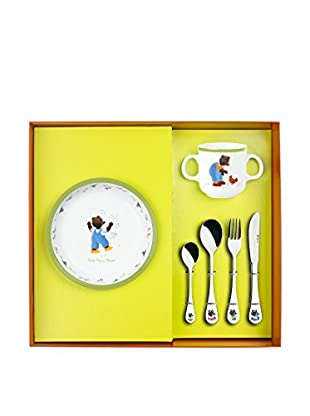Guy DeGrenne 6-Piece Petit Ours Brun & The Animals Child's Set, White