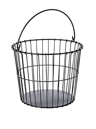 Skalny Open Metal Basket, Dark Brown