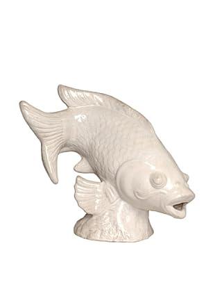 Emissary Big Fish Garden Sculpture (White)