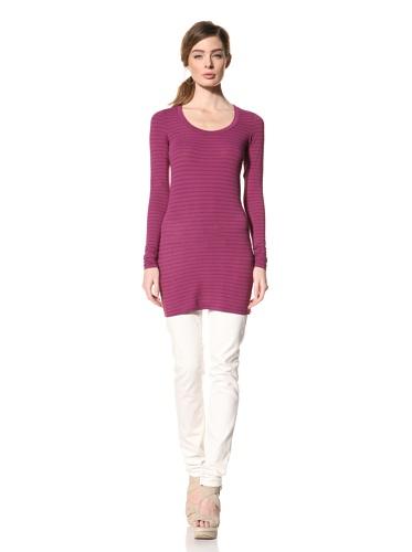 Splendid Women's Long Sleeve Striped Top (Mardi Gras)