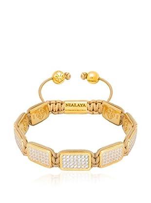 Nialaya Braccialetto argento placcato oro 18 Kt