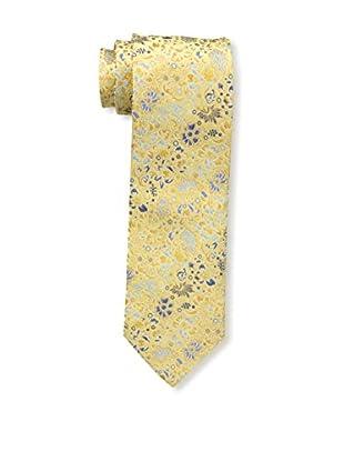 Bruno Piattelli Men's Floral Silk Tie, Gold