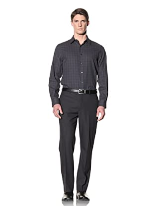 Perry Ellis Men's Windowpane Twill Shirt (Limoges)