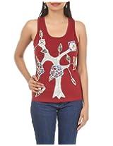 Rajrang Womens Cotton Red Free Size Kurta