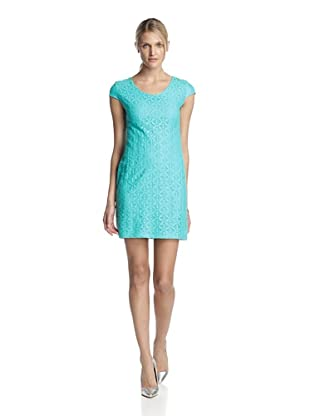 Taylor Dresess Women's Cap Sleeve Lace Dress (Turquoise)