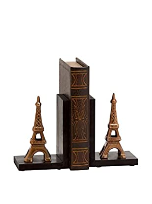 Aluminum Wood Eiffel Bookends