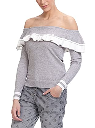 Tantra Pullover Boat Net Knitted With White Stripe