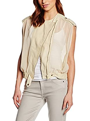 7 For All Mankind Weste Airy Biker creme M