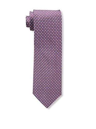 Bruno Piattelli Men's Neat Silk Tie, Red Navy
