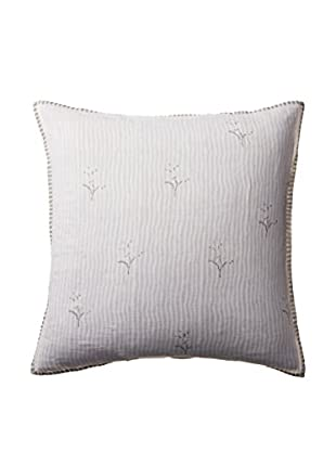 Shades of India Pixel Flower Euro Sham, White/Pearl