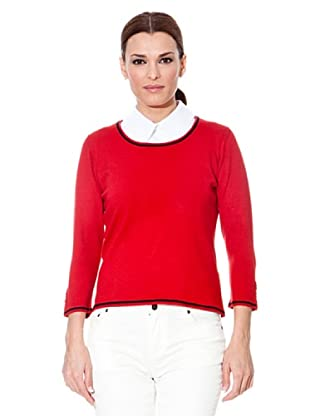 Cortefiel Pullover Tricot (Rot)