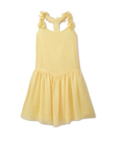 Blush by Us Angels Girl's Sleeveless Drop Waist Jumper (Canary)