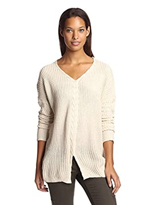 Mystree Women's Cable Trim Sweater