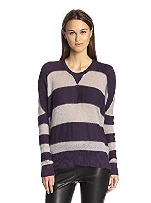 L.A.M.B. Women's Mohair Striped Cocoon Sweater