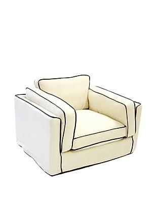 Armen Living South Beach Chair in Slipcover, White