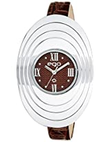 Ego by Maxima Analog Brown Dial Women's Watch - E-38500LALI