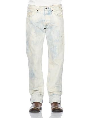 Replay Pantalón Conecuh (Blanco / Azul)