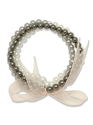 Perldor 3-er Set Armband Muschelkernperlen weiß/grau 60650123
