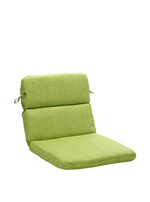 Pillow Perfect Indoor/Outdoor Baja Rounded Corner Chair Cushion, Lime Green