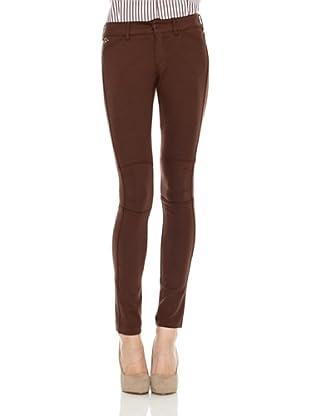 Spagnolo Pantalon Punto Amazona (Marrón)