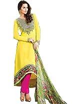 Pairahan Women Cotton Dress Material (Cpc010 _Yellow)