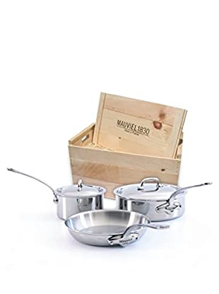 Mauviel M'cook Crated 5-Piece Set with Cast Stainless Steel Handles