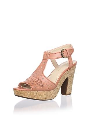Adrienne Vittadini Women's Yanni Platform Sandal (Coral)