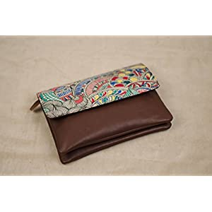 Moya Madhubani Doodle Clutch With Detachable Strap
