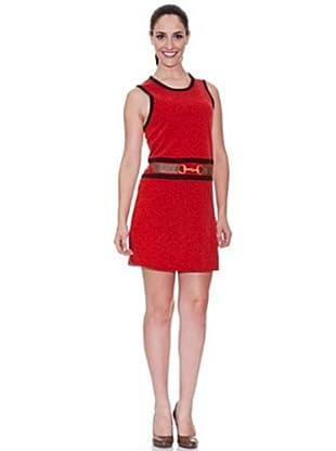 Cortefiel Vestido Pichi Vivos (Rojo)