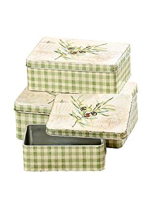 Boltze Caja 3 Piezas Olive Verde Claro