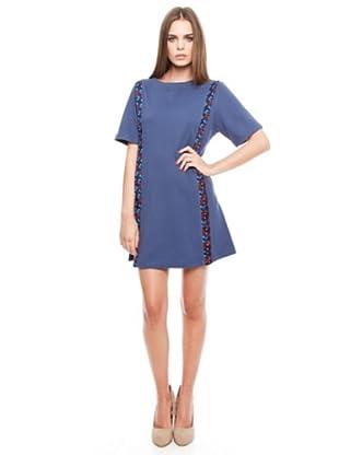 Dolores Promesas Vestido Bolsillos (Azul)