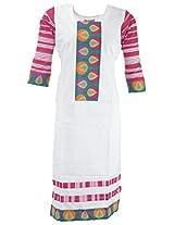 Kraft Corridor Women's Cotton Kurti (AUG048_XXL-44, White, XXL-44)