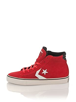 Converse Botines Pro Leather Vulc Mid Suede (Rojo)