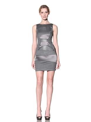 Doo.Ri Women's Sleeveless Dress with Leather Panels (Greystone)