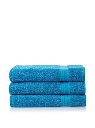 Chortex 3-Piece New Savannah Bath Sheet Set, Kingfisher Blue