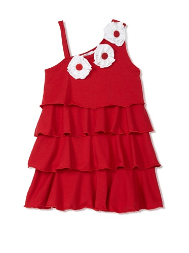 Lilo Girl's Poetic Dress (Red)