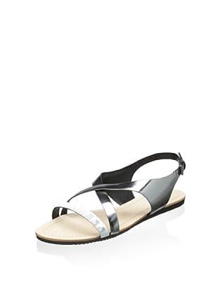 Elie Tahari Women's Night Sandal (White/Inox)