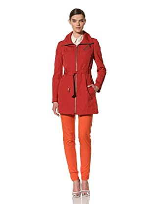 Andrew Marc Women's Darcy Belted Trench Coat (Red)