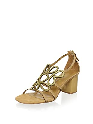 Lola Cruz Women's Mid Heel Sandal (Beige)
